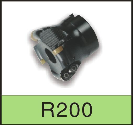 6HR200-5R-100-32-6T R200-5R-100-32-6T 6H 黑色TR200圆鼻铣刀盘系列